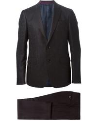 schwarzer vertikal gestreifter Anzug von Etro