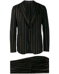 schwarzer vertikal gestreifter Anzug von Tagliatore