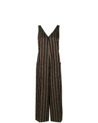 schwarzer vertikal gestreifter Jumpsuit von Golden Goose Deluxe Brand