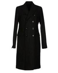schwarzer vertikal gestreifter Mantel