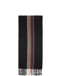schwarzer vertikal gestreifter Schal von Paul Smith