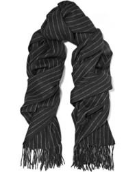 schwarzer vertikal gestreifter Schal von Rag & Bone