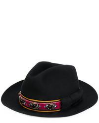schwarzer verzierter Hut von Etro