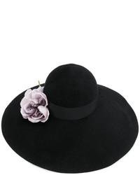schwarzer verzierter Hut von Gucci