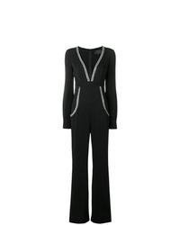 schwarzer verzierter Jumpsuit von Philipp Plein