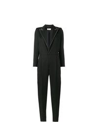 schwarzer verzierter Jumpsuit von Saint Laurent