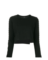 schwarzer verzierter kurzer Pullover von 3.1 Phillip Lim
