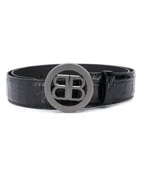 schwarzer verzierter Ledergürtel von Balenciaga