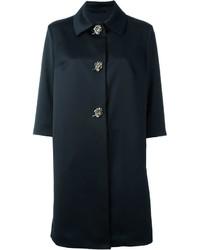 Schwarzer verzierter Mantel von Ermanno Scervino