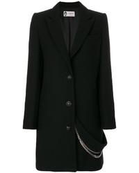 schwarzer verzierter Mantel von Lanvin