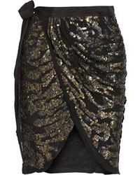 schwarzer verzierter Minirock von Isabel Marant