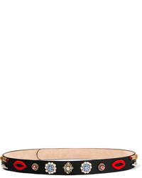 schwarzer verzierter Taillengürtel von Alexander McQueen