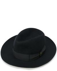 schwarzer Wollhut von Borsalino
