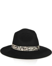 schwarzer Wollhut von Karl Lagerfeld