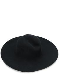 schwarzer Wollhut von Maison Michel