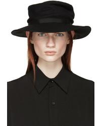 schwarzer Wollhut von Yohji Yamamoto