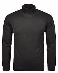 schwarzer Wollrollkragenpullover von RAGMAN