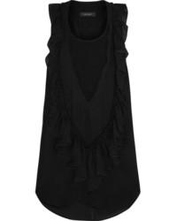 schwarzes ärmelloses Oberteil aus Chiffon von Isabel Marant