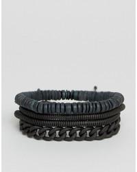 schwarzes Armband von Aldo