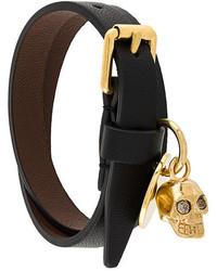schwarzes Armband von Alexander McQueen
