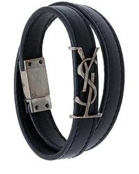 schwarzes Armband von Saint Laurent