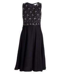 schwarzes ausgestelltes Kleid von Anna Field