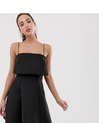 schwarzes ausgestelltes Kleid von Asos Tall