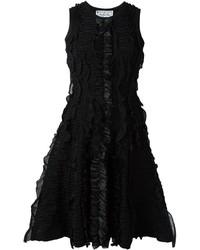schwarzes ausgestelltes Kleid von Dsquared2
