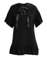 schwarzes ausgestelltes Kleid von Even&Odd