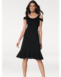 schwarzes ausgestelltes Kleid von Heine