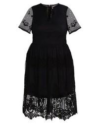 Schwarzes Ausgestelltes Kleid von LOST INK