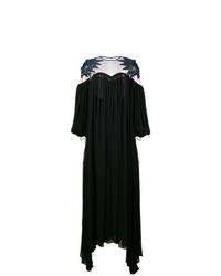 schwarzes Ballkleid mit Ausschnitten von Fendi