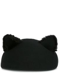 schwarzes Barett von Eugenia Kim