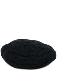 schwarzes Barett von Maison Michel