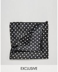 schwarzes Baumwolle Einstecktuch von Reclaimed Vintage