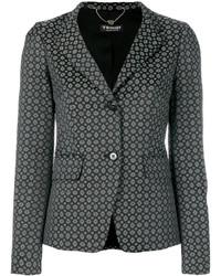 schwarzes Baumwollsakko mit geometrischem Muster von Twin-Set