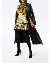 schwarzes bedrucktes ärmelloses Oberteil von Versace