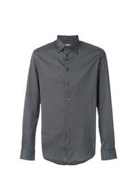 schwarzes bedrucktes Businesshemd von Armani Collezioni