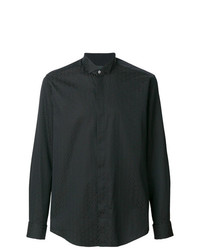 schwarzes bedrucktes Businesshemd von Pal Zileri