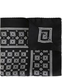 schwarzes bedrucktes Einstecktuch von Dolce & Gabbana