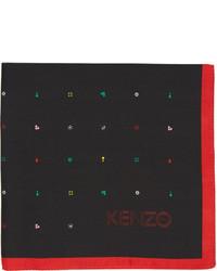 schwarzes bedrucktes Einstecktuch von Kenzo