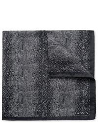 schwarzes bedrucktes Einstecktuch von Lanvin