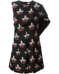 schwarzes bedrucktes gerade geschnittenes Kleid von Fendi