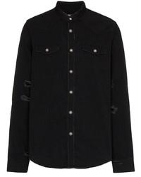 schwarzes bedrucktes Jeanshemd von Balmain