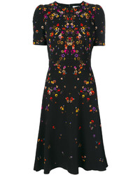 schwarzes bedrucktes Kleid von Givenchy