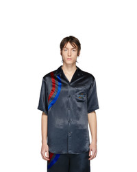 schwarzes bedrucktes Kurzarmhemd von Gucci