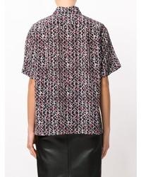 schwarzes bedrucktes Kurzarmhemd von Marni