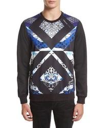 schwarzes bedrucktes Sweatshirt