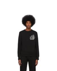 schwarzes bedrucktes Sweatshirt von Alexander McQueen
