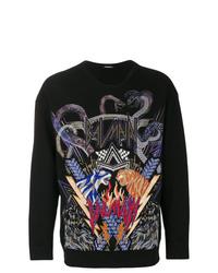 schwarzes bedrucktes Sweatshirt von Balmain